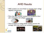 avid results