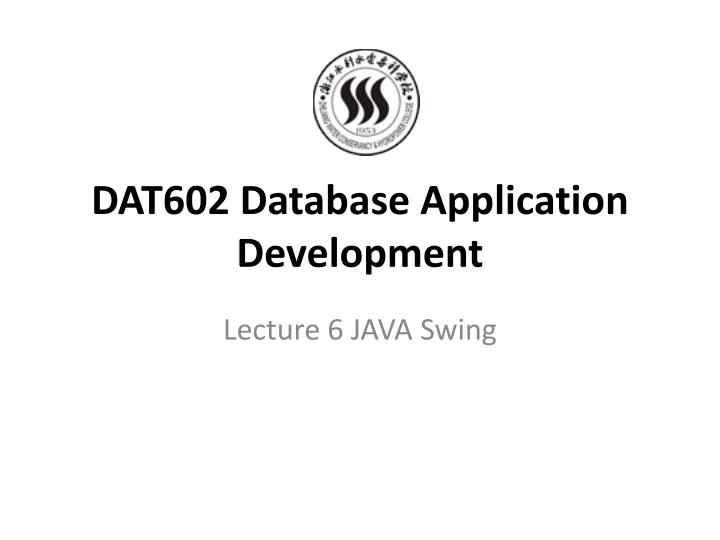dat602 database application development n.