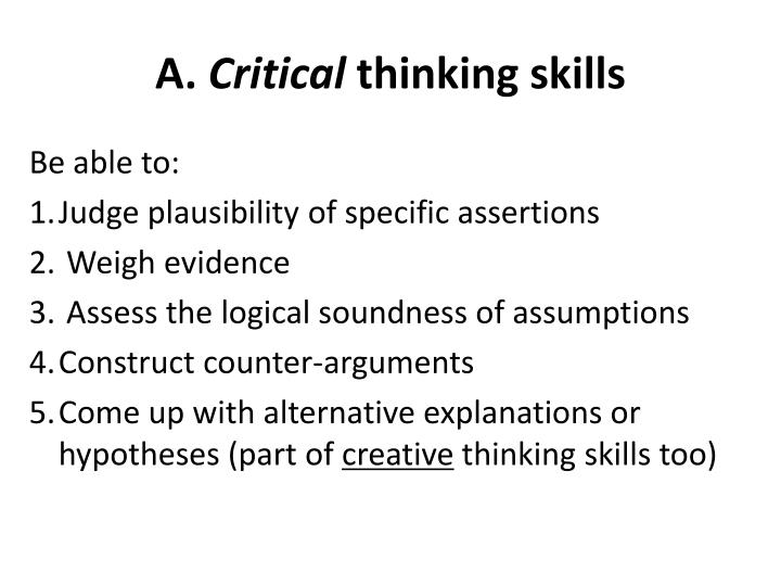 how to measure critical thinking
