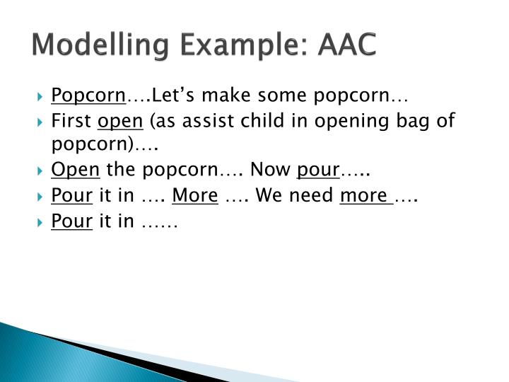 Modelling Example: AAC