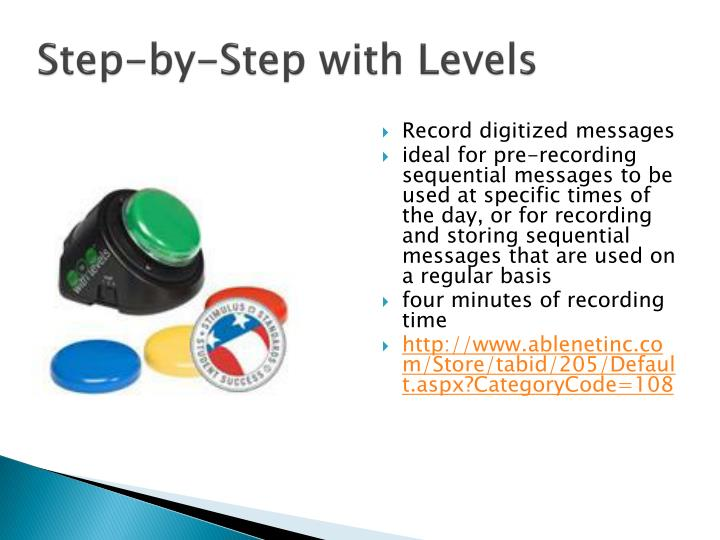 Step-by-Step with Levels