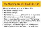 the wooing scene read 113 135