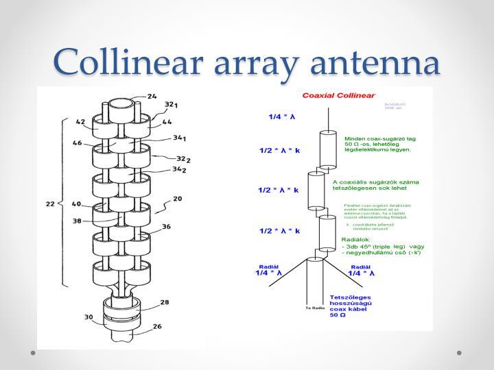 Collinear array antenna