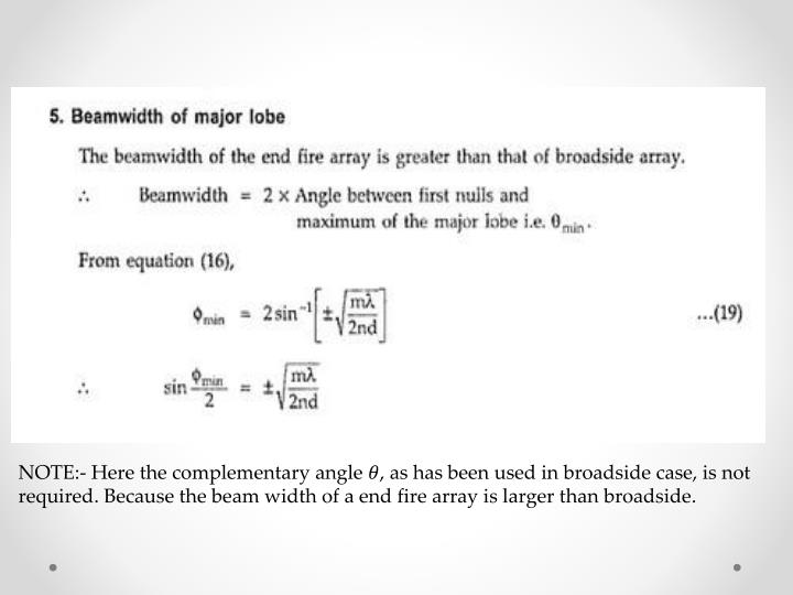 NOTE:- Here the complementary angle