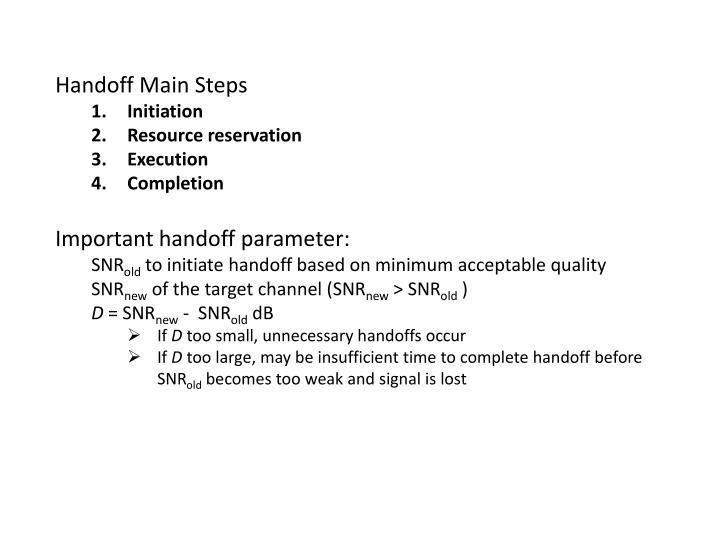 Handoff Main Steps
