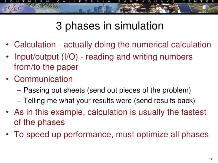 3 phases in simulation