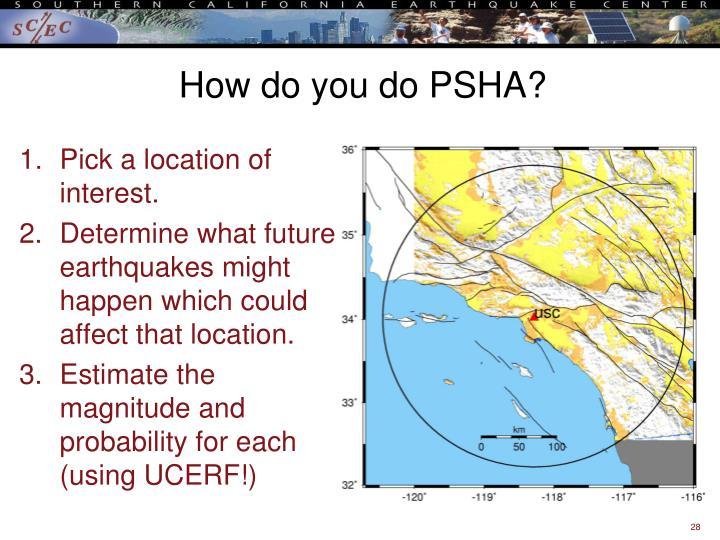 How do you do PSHA?