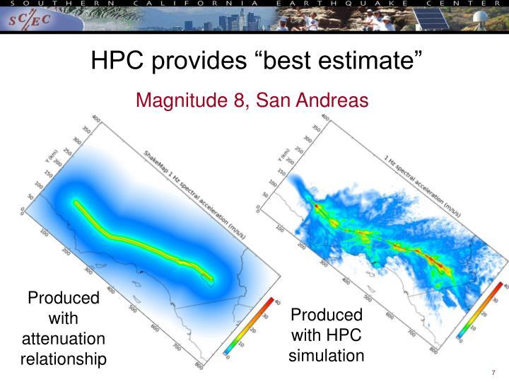 """HPC provides """"best estimate"""""""