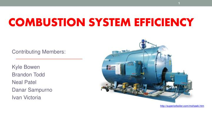 combustion system efficiency n.