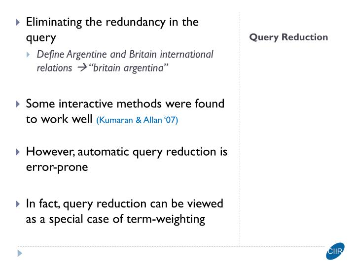 Eliminating the redundancy in the query