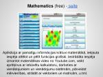 mathematics free saite