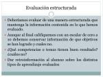 evaluaci n estructurada
