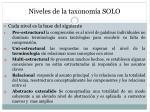 niveles de la taxonom a solo