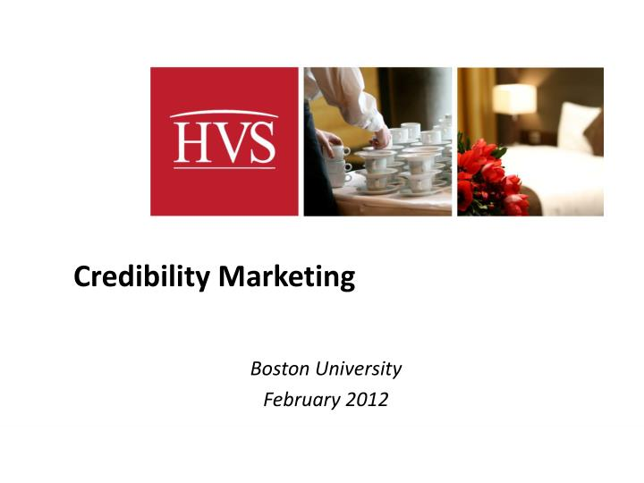 credibility marketing n.
