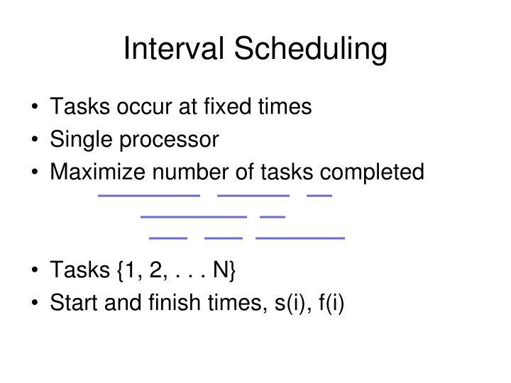 Interval Scheduling