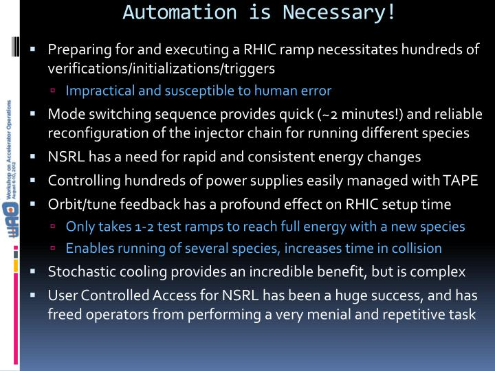 Automation is Necessary!