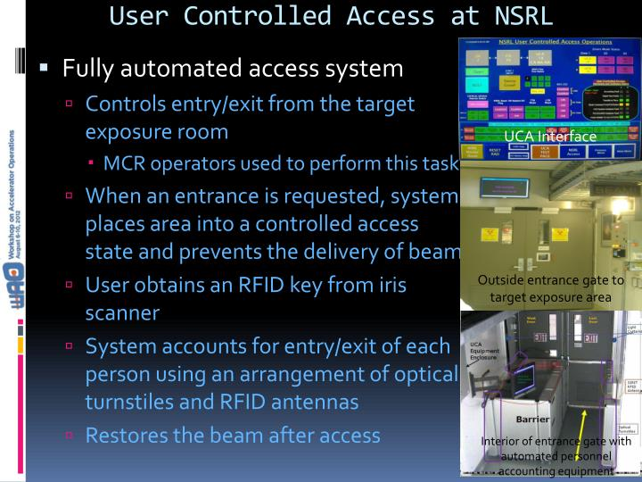 User Controlled Access at NSRL