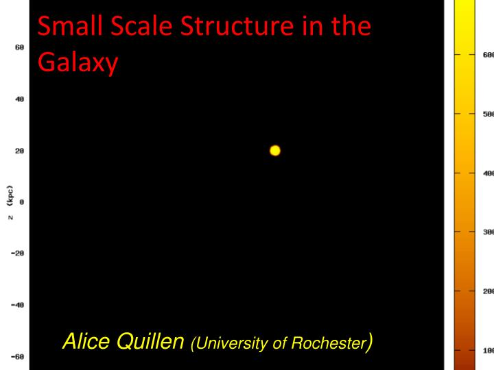 small scale s tructure in the galaxy n.