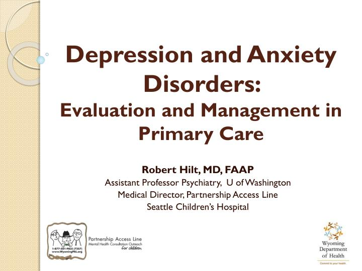 depression and anxiety disorders evaluation and management in primary care n.
