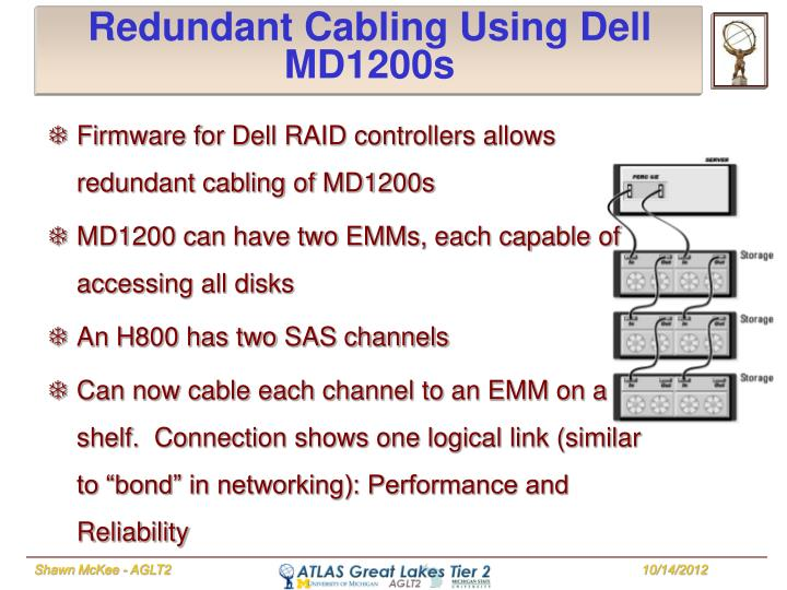 Redundant Cabling Using Dell MD1200s