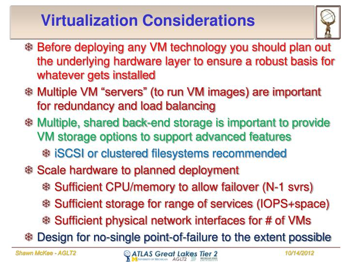 Virtualization Considerations