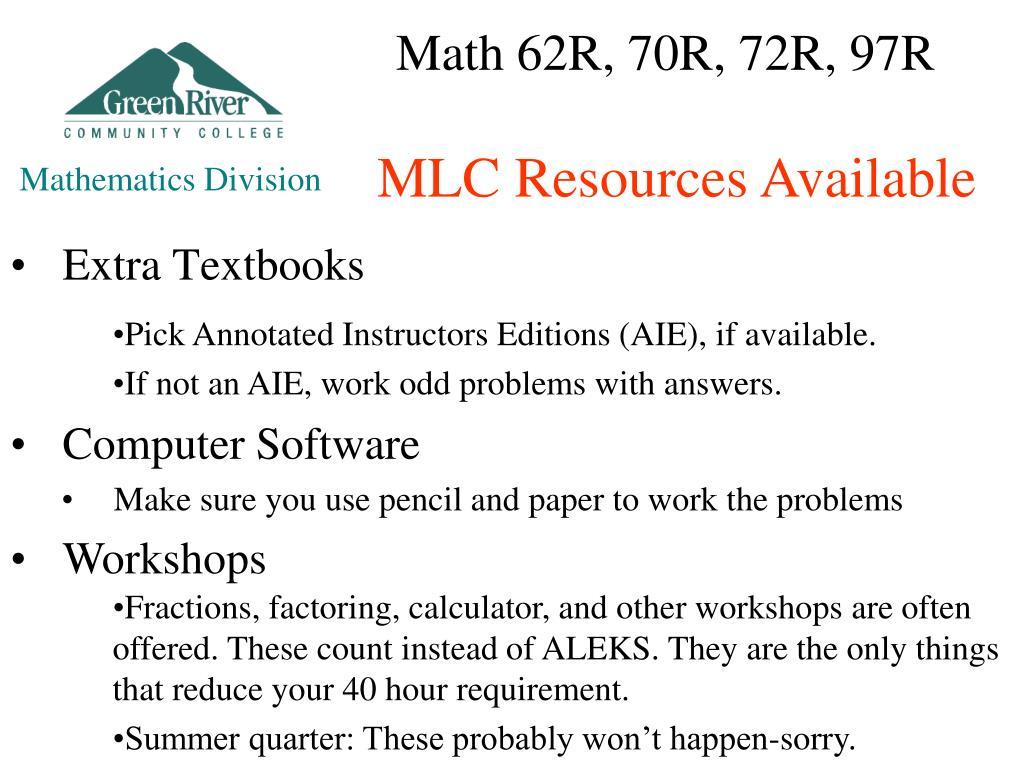 PPT - Math Module Courses Orientation PowerPoint