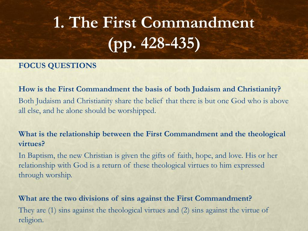 PPT - Chapter 19: The First Three Commandments PowerPoint ...