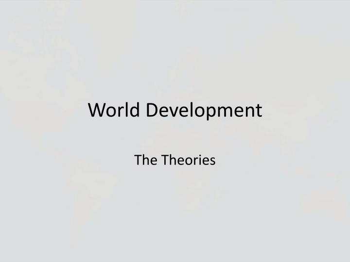 world development n.