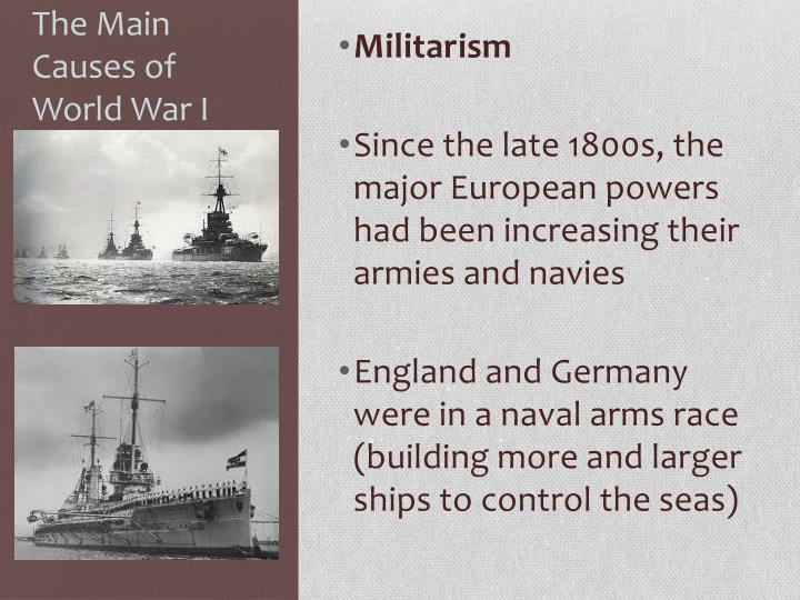 The main causes of world war i