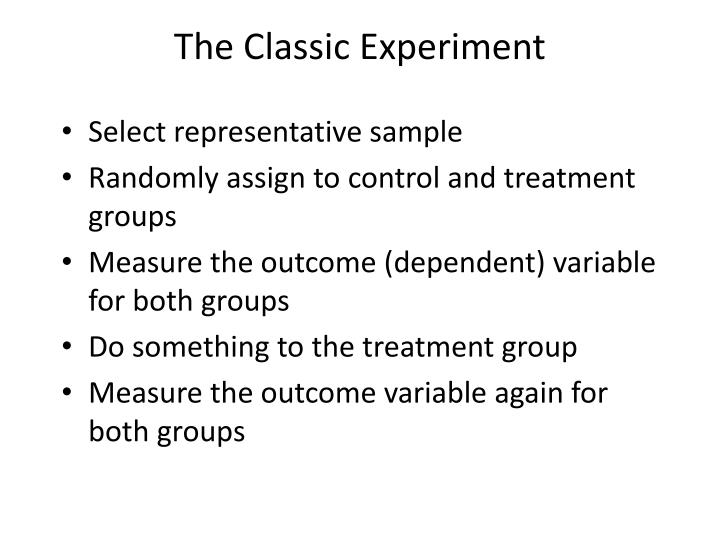 The Classic Experiment