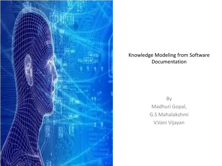 knowledge modeling from software documentation n.