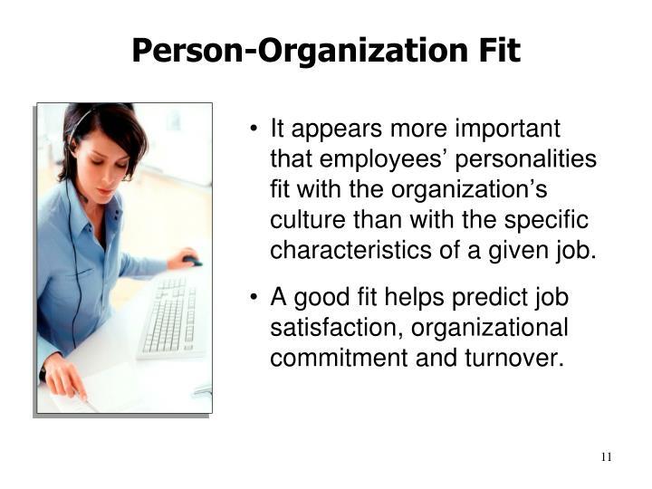 Person-Organization Fit
