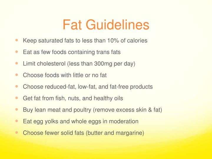 Fat Guidelines