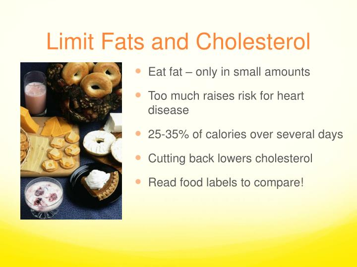Limit Fats and Cholesterol