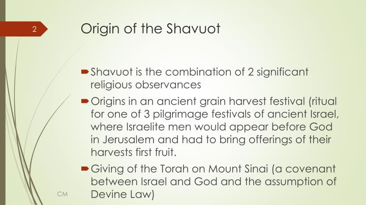Origin of the shavuot