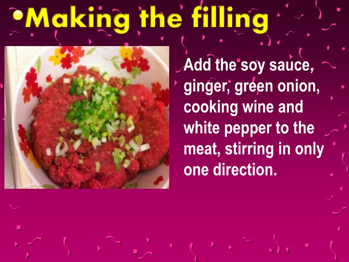 Making the filling