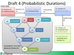 draft 4 probabilistic durations