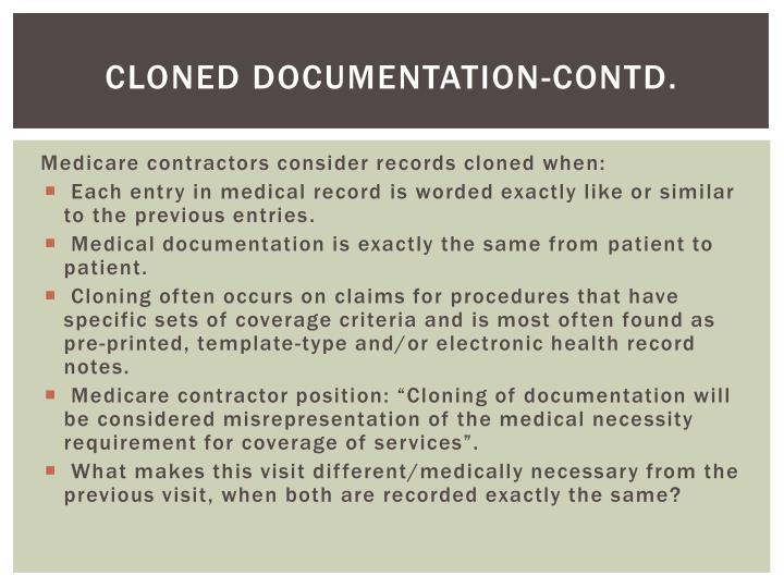 Cloned Documentation-Contd.