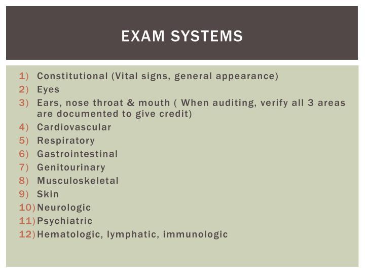 Exam Systems