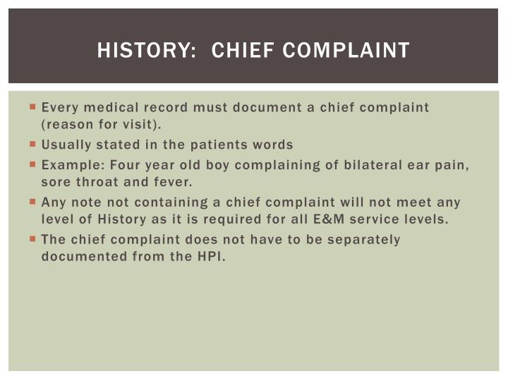 HISTORY:  Chief Complaint