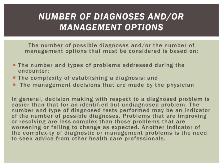 Number of Diagnoses and/or