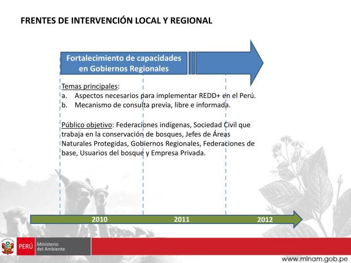Fortalecimiento de capacidades en Gobiernos Regionales