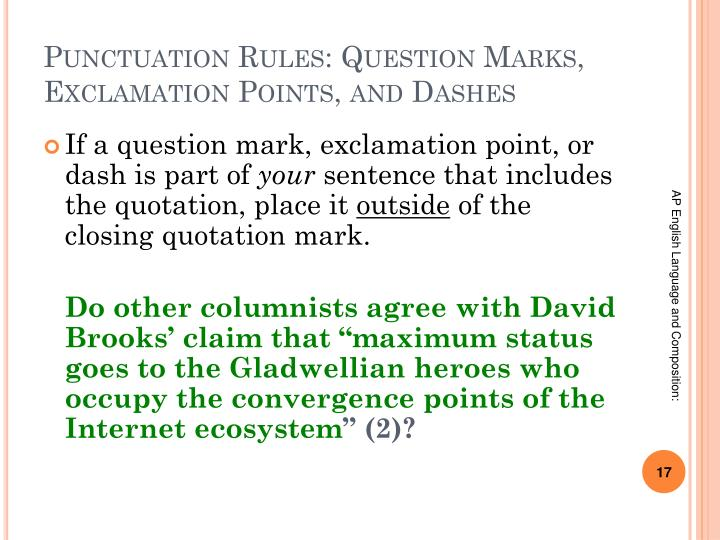 Punctuation Rules: Question Marks, Exclamation Points, and Dashes