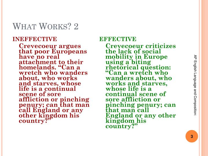 What works 2