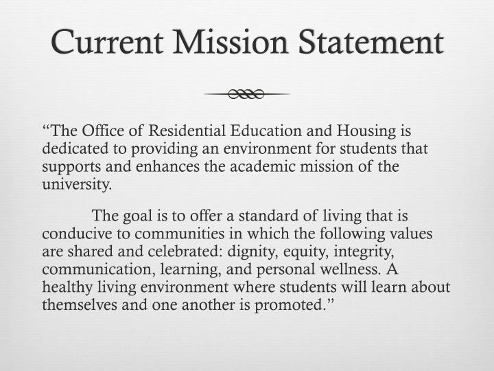Current mission statement