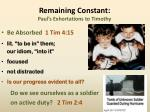 remaining constant paul s exhortations to timothy4