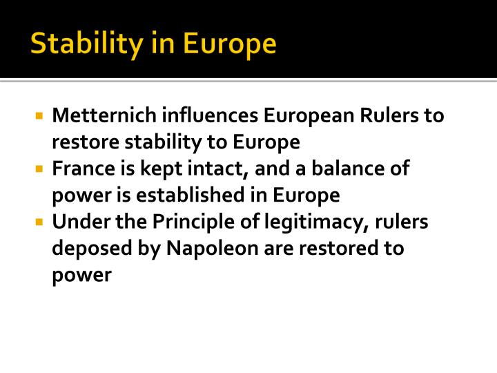 Stability in Europe