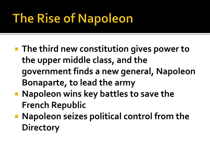 The Rise of Napoleon