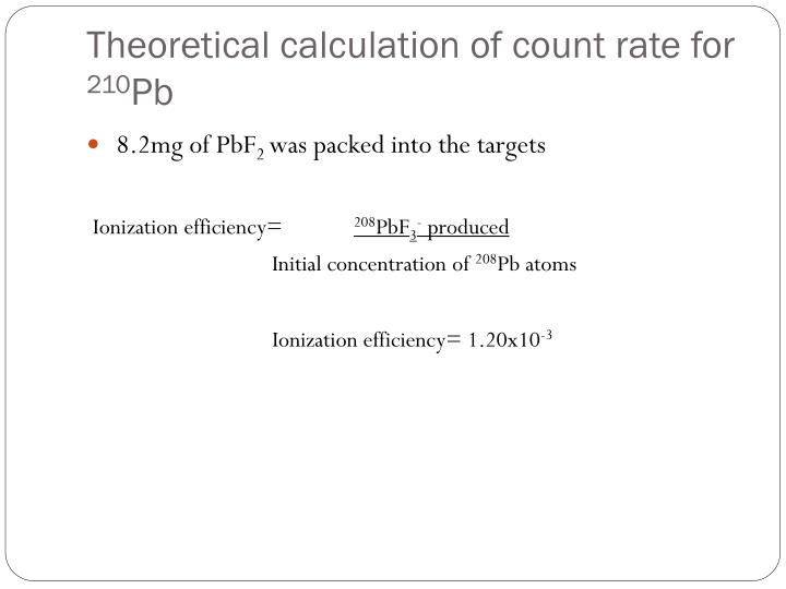 Theoretical calculation of count rate for