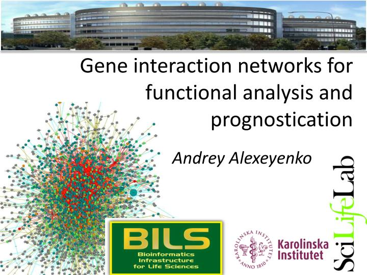 Gene interaction networks for functional analysis and prognostication